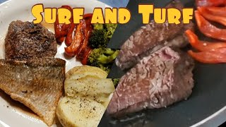 HOW TO COOK SIMPLE AND EASY SURF AND TURF RECIPE