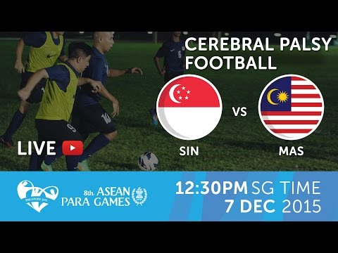 Cerebral Palsy football Malaysia vs Singapore (Day 4) | 8th ASEAN Para Games 2015