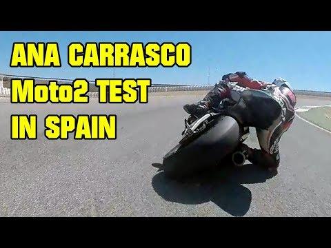 Simon Crafar chasing ex Moto3 rider Ana Carrasco at Cartagena - GSX-R 1000 & Moto2 Track Day Onboard