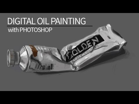 Digital Oil Painting - Photoshop Graphics Tablet