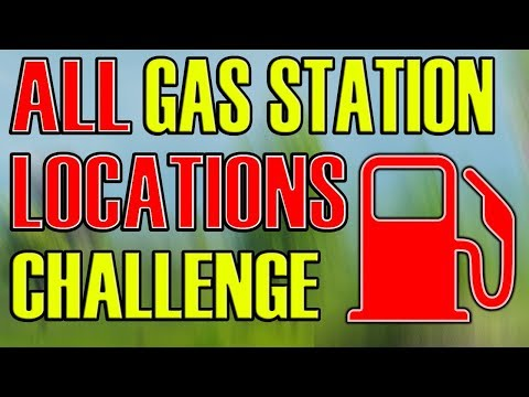 WHERE to FIND the Gas Stations  (Visit Locations) Fortnite Battle Royale