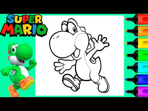 Super Mario Yoshi Coloring Pages Coloring Home
