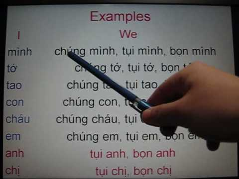 Self-studying Vietnamese Lesson 13 (1/2) Plural Subjects (We, You, They)