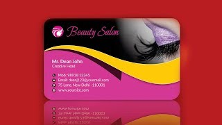 Business card design in CorelDraw | Visiting card online tutorial