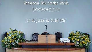 Culto 21 de junho de 2020 18h