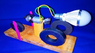 free energy Generator With Magnet very easy Experiment - DIY Science Project