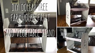 DIY Dollar Tree  Farmhouse Fruit  And Vegetable Stand