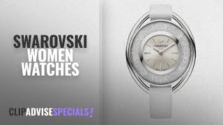 10 Best Selling Swarovski Women Watches [2018 ]: Swarovski Crystalline Oval White Watch