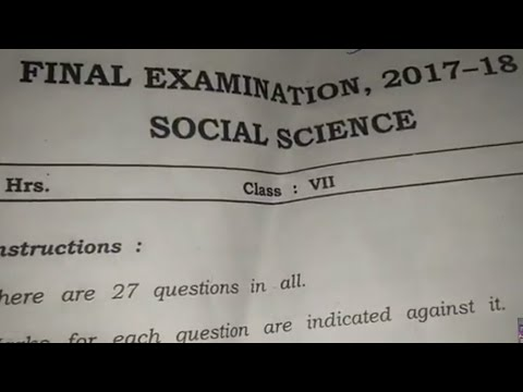 Social studies sa-2 question paper class 7 2018