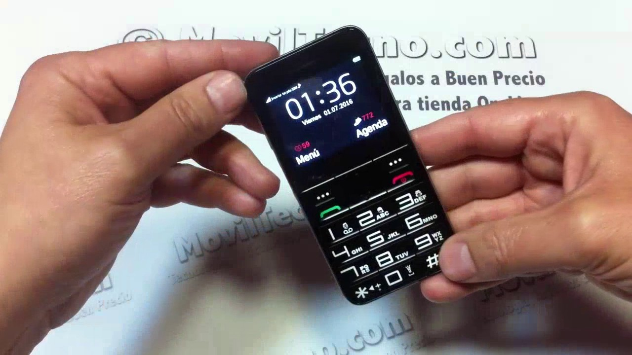 Telefonos Para Mayores Libres Movil Localizador De Personas Alzheimer Familiar Moviltecno Black 728