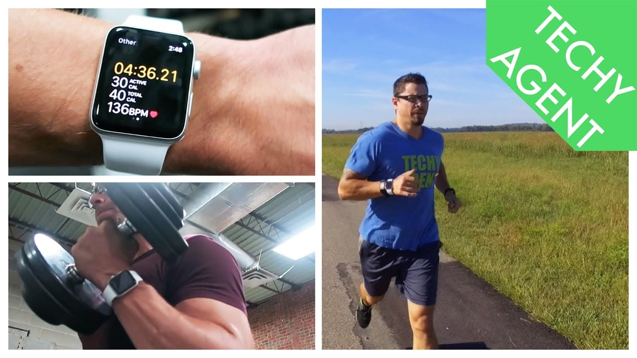 Exercising with apple watch series 3