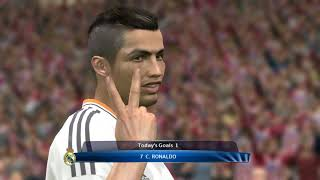 PES 2014 UEFA Champions League Final (Atletico Madrid vs Real Madrid Gameplay) (re-upload)