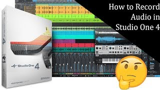 How to record audio in studio one 4 | For beginners of studio one 4