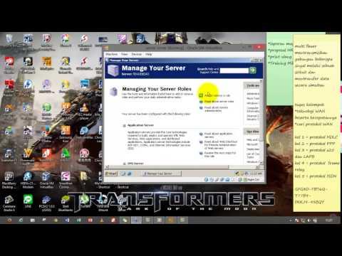 TUTORIAL WINDOWS SERVER 2003 DNS,ACTIV DIRECTORY,MAIL SERVER, FTP PRIVATE