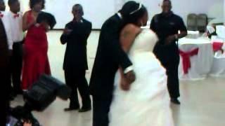 Mr. Frederick Hudson, Sr. & His new bride Mrs. Cyn-Keithia Hudson - First Dance