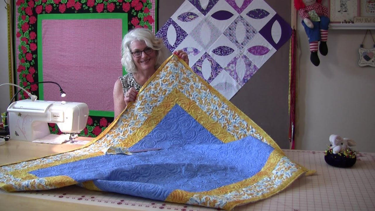 An Easy way to sew the binding on your quilt top - YouTube : easiest way to bind a quilt - Adamdwight.com
