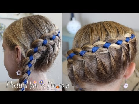 FRENCH FOUR STRAND BRAID WITH RIBBON!! 🎀