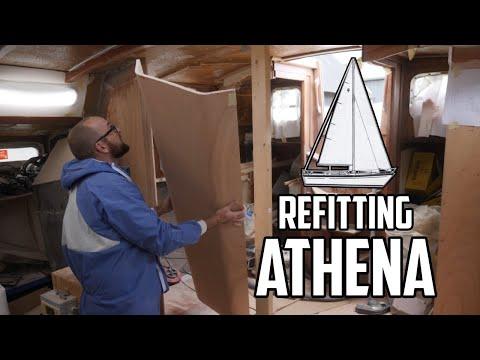 Sail Life - Laminated beam and kerfing plywood - DIY sailboat repair