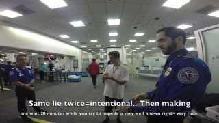 Repeat youtube video Miami TSA Supervisor Lies Multiple Times