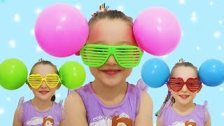 ÖYKÜ ÇOK Eğleniyor balonlarını buldu - Learn colors With balloons