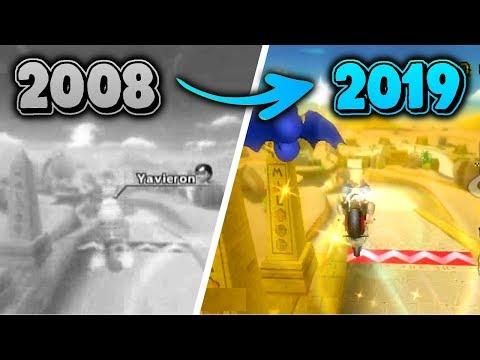 Evolution Of Mario Kart Wii World Records (2008 - 2019) - RR, DDR, KC, MT