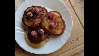 Оладьи на йогурте с яблоком: рецепт от Foodman.club