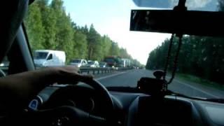Халатность дорожников (трасса Питер - Мурманск)