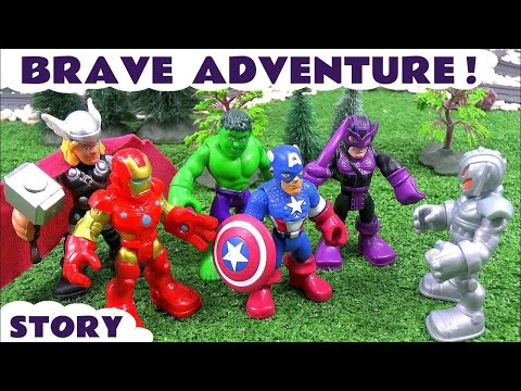 Marvel Avengers vs Ultron Battle | Thomas and Friends Surprise Eggs Minions Angry Birds Star Wars