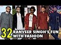 Ranveer Singh's 32 Most Quirky Fashion Moments | Ranveer Singh Turns 32 | Happy Birthday
