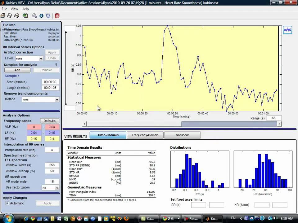 Alive Session Review with Free Kubios HRV Video