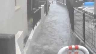 2014年 台風11号による浸水被害 明石市魚住町