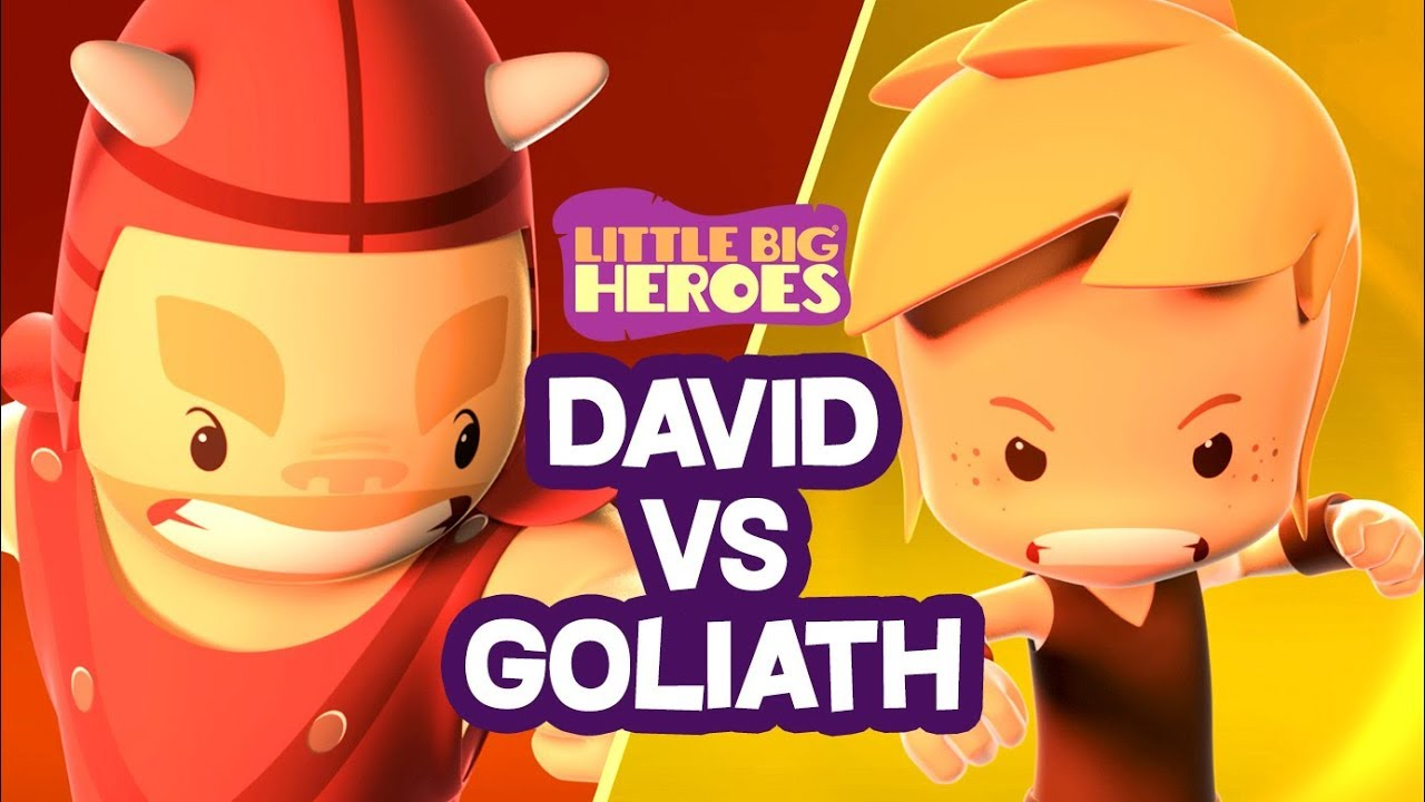 David and Goliath - Bible Stories For Kids - Little Big Heroes - Animated Cartoons