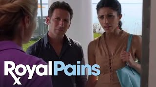 "Royal Pains - Season 5, Eps 4 - ""Pregnant Paws"" Hank's Worry for Divya"