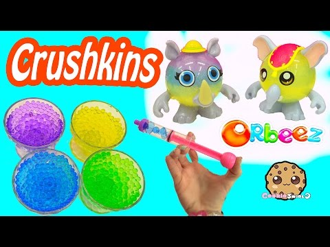 Orbeez Crush Set Safari Crushkins Animals Maker - Water Play Toy Cookie Swirl C Video