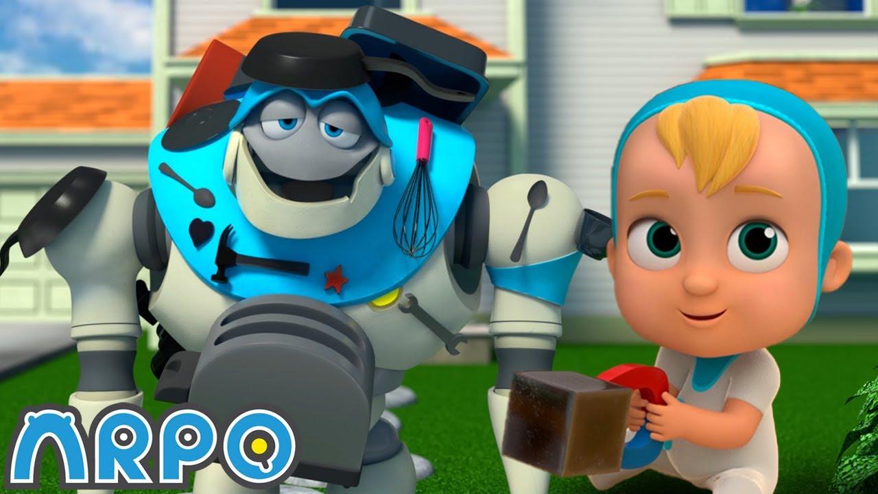 자석놀이 ・ 신규 에피소드 ・ 재미있는 어린이 만화! ・ 로봇알포 Arpo The Robot