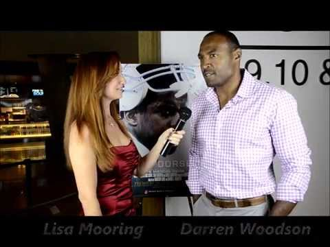 Darren Woodson interviewed by Lisa Mooring at the American Dream Premiere