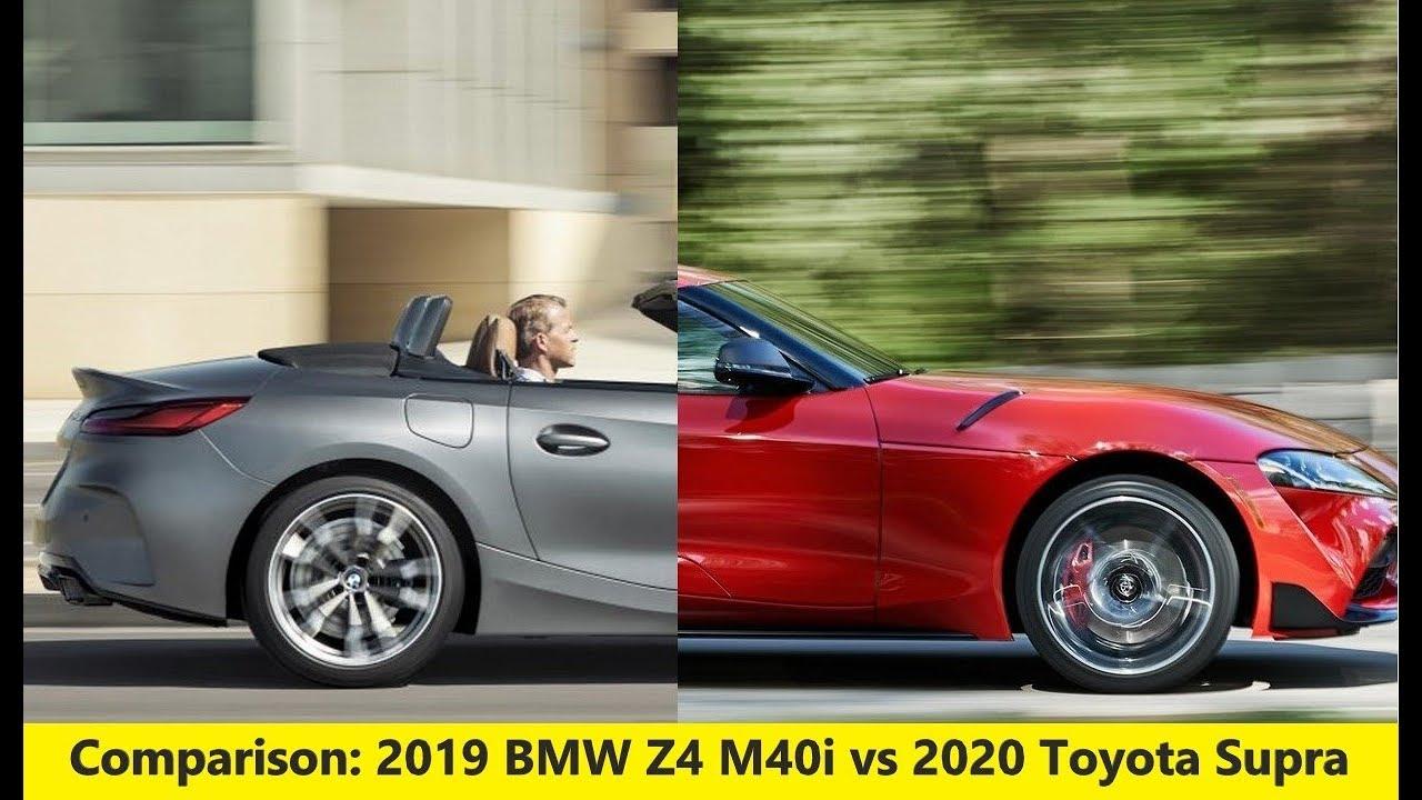 Comparison 2019 Bmw Z4 M40i Vs 2020 Toyota Supra Youtube