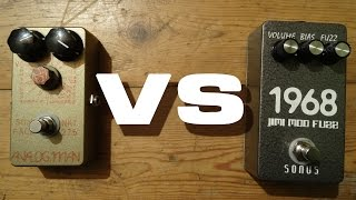 BANNED VIDEO! WATCH NOW! SONUS VS ANALOGMAN SUNFACE NKT275 FUZZ Shoot-out