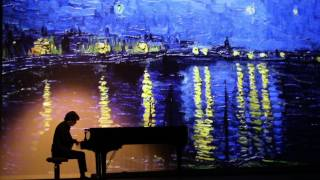 Les toiles musicales / #ClairedeLune Debussy / #VanGogh La nuit étoilée