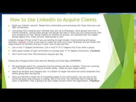 Virtual Recruiter Series Acquiring Clients   2015 04 02 1507
