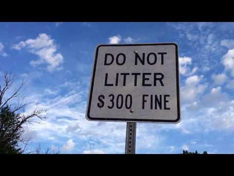 Do Not Litter 300 Dollar Fine