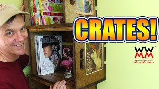Wood Crate Bookshelves. Make Your Own Vintage Crates!