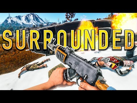 SURROUNDED BY EVERYONE! | Rust w/ KCmoTV