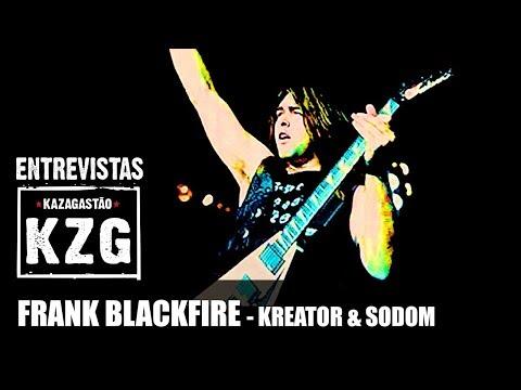 FRANK BLACKFIRE (KREATOR & SODOM) em Kaza! - entrevistado por Gastão Moreira