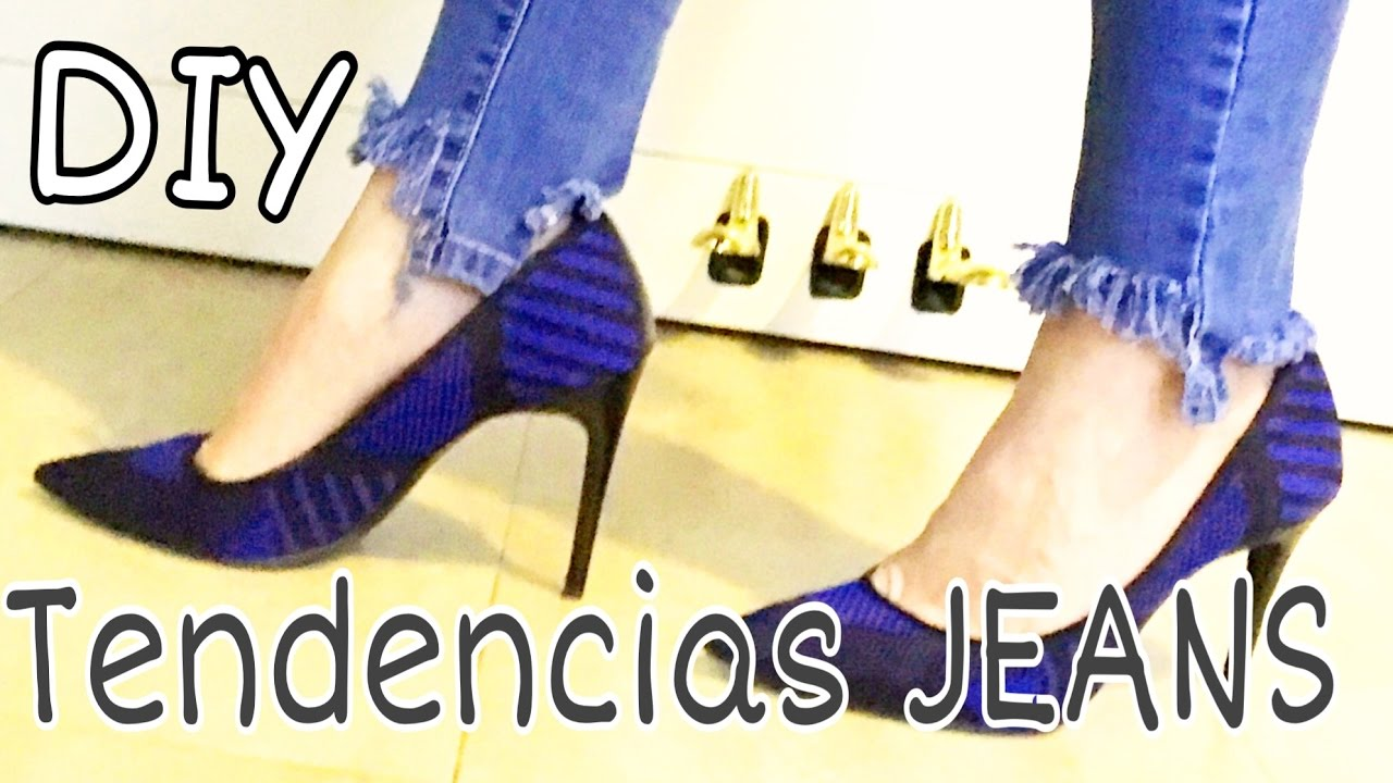 DIY Ideas para renovar tus Jeans / TENDENCIAS 2017 - YouTube