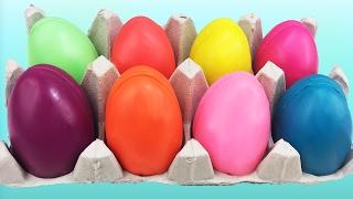 DIY Make Playdoh Eggs w/ Surprise Eggs Peppa ...
