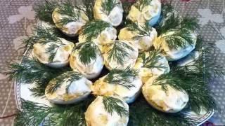 Фаршированные Яйца / Яйца с Куриной Печенью / Праздничная Закуска / Stuffed Eggs / Простой Рецепт