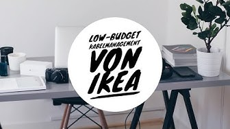 Low-Budget Kabelmanagement von IKEA