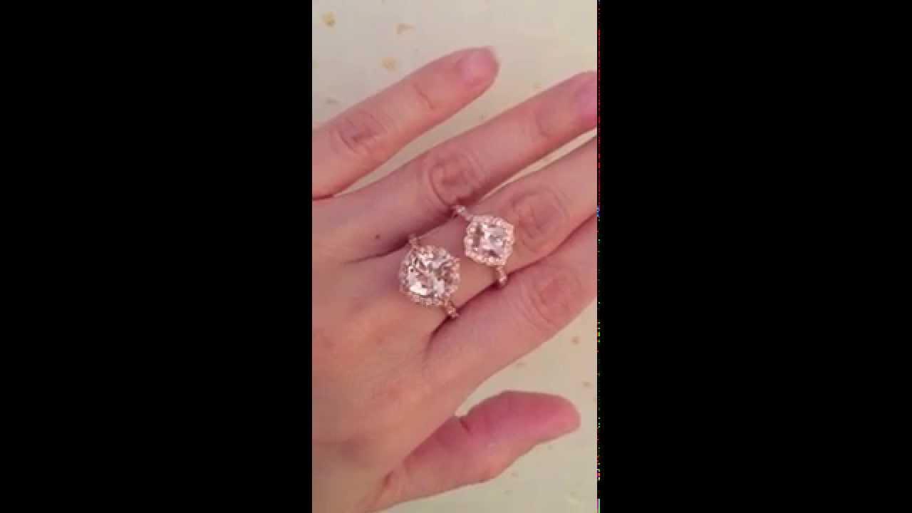 La More Design Vintage Floral Morganite Engagement Ring Rose Gold ...