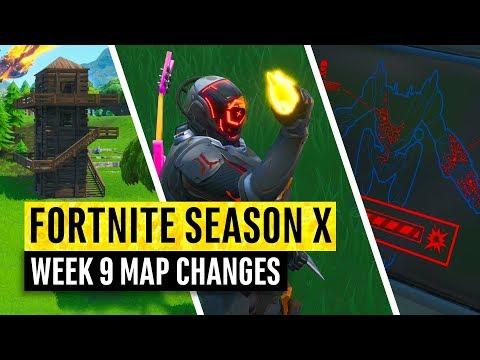 Fortnite   All Season X Map Updates And Hidden Secrets! WEEK 9